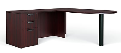 Global Superior BUNDLE11 Workstation, Mahogany