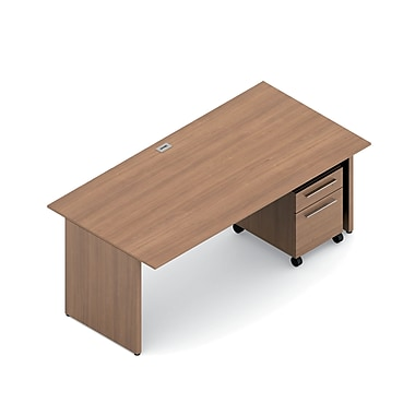 Global Princeton Desking Bundle #1, Winter Cherry Laminate, 72
