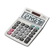 Casio™ MS-80S-S-IH 8-Digit Desktop Basic Calculator, Gray/Silver