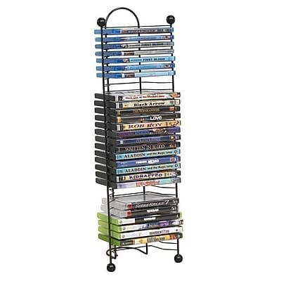 Atlantic Steel Nestable Media Storage Rack, Gunmetal IM1GB1185
