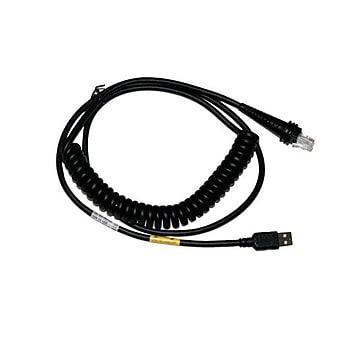 "Honeywell CBL-503-300-C00 9.84"" USB Coiled Cable, Black"