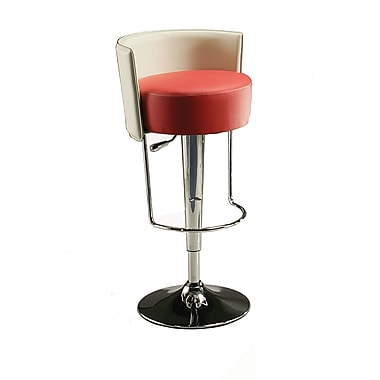 Pastel Anaquest Hydraulic Barstool, PU Red