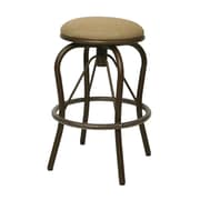 "Pastel Bushnell 30"" Outdoor Backless Swivel Barstool, Taupe/Beige/Tan"