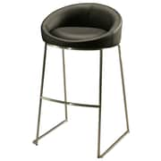 "Pastel Di Sinistra 26"" Leatherette Counter Stool, PU Black"