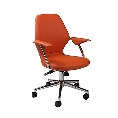 Pastel Furniture Ibanez Faux Leather Executive Office Chair, Adjustable Arms, Pu Orange (QLIB16477982)