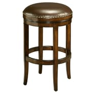 "Pastel Naples Bay 26"" Leather Backless Counter Stool, Brown"