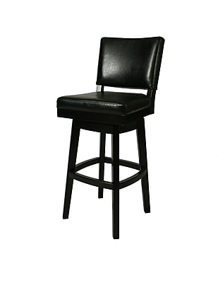 """""Pastel Richfield 26"""""""" Leather Swivel Counter Stool, Black"""""" 231176"