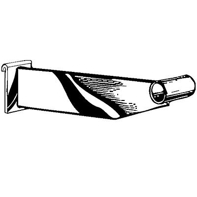 Round Tubing Hangrail Bracket, Chrome, 12
