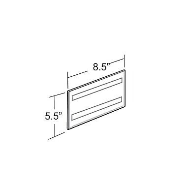 Azar Displays – Porte-affiche horizontal à fixation murale, 5,5 x 8,5 po, 10/paquet (122030)