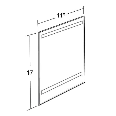 Azar Acrylic Vertical Wall Mount Sign Holder with Adhesive Tape, 17
