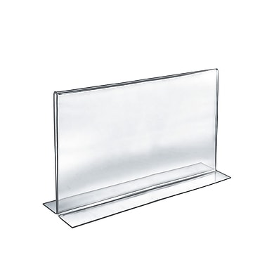Azar Acrylic 2-Sided Double-Foot Horizontal Sign Holder, 11