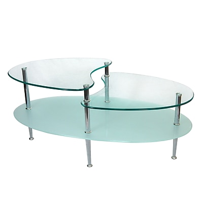 Walker Edison Mariner Metal Coffee Table, Chrome, Each (C38B5)