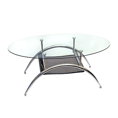 Walker Edison Metal Coffee Table, Black (C42BM)