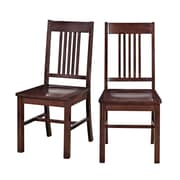 Walker Edison Meridian Wood Dining Chair, Cappuccino