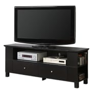 "Walker Edison 60"" Wood TV Console With Multi-Purpose Storage, Black"