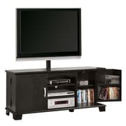"""Walker Edison 60"""" Wood TV Console With Mount, Black"""