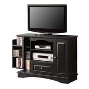 "Walker Edison 42"" Laminate Bedroom TV Console, Black"