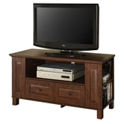 "Walker Edison Colombus 44"" Corner Wood TV Console, Traditional Brown"