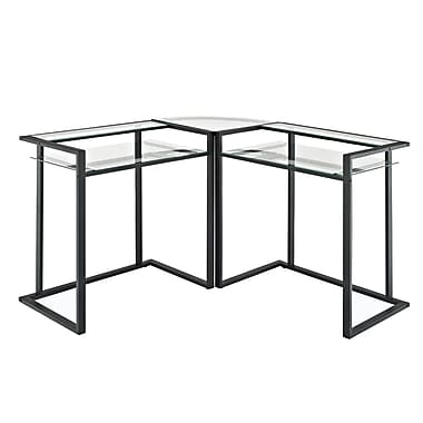 Walker Edison Glass Corner Computer Desk, Multi (D56C33CB)
