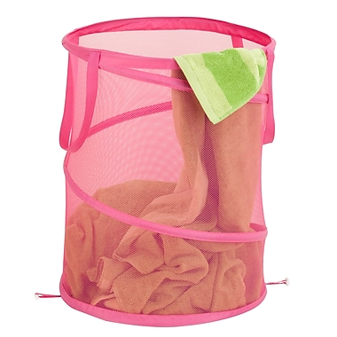 Honey Can Do Breathable Large Mesh Popup Hamper, Pink (HMP-03059)