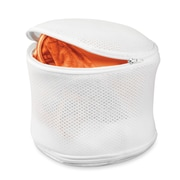 "Honey Can Do 4.3"" x 6.7"" Mesh Fabric 2Sided Bra Wash Bag, White (LBGZ01147)"
