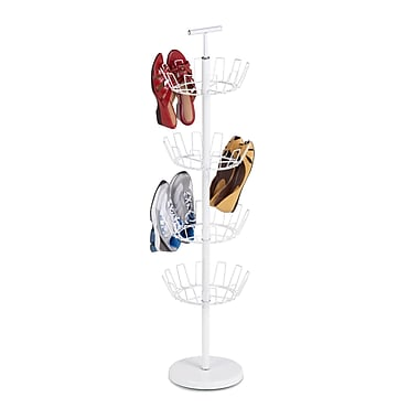 Honey Can Do 4Tier Revolving Shoe Tree, White (SHO-01197)