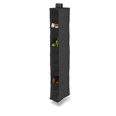 Honey Can Do® – Étagères d'armoire verticales à suspendre,10 tablettes, noir