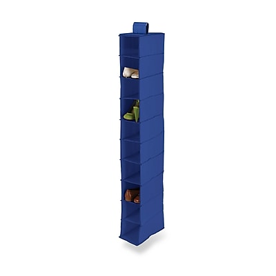 Honey Can Do 10 Shelf Hanging Vertical Closet Organizer, blue (SFT-01276)