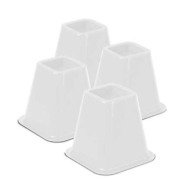 Honey Can Do Bed Risers, Set of 4, white (STO-01876)