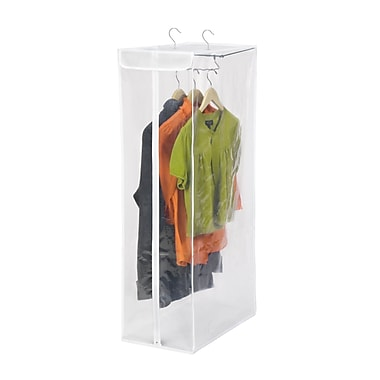 Honey Can Do® Short Hanging Storage Closet, White/Clear