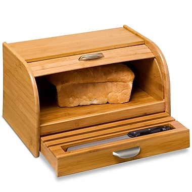 Honey Can Do® Bamboo Rolltop Bread Box