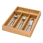 "Honey Can Do® Bamboo 4Compartment Cutlery Tray, 14""(L)"