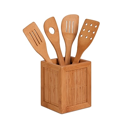 Honey Can Do® Bamboo Utensil Caddy, 4.7