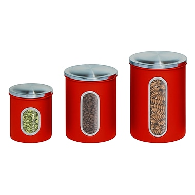 Honey Can Do® Metal Nested Canister Set, Red