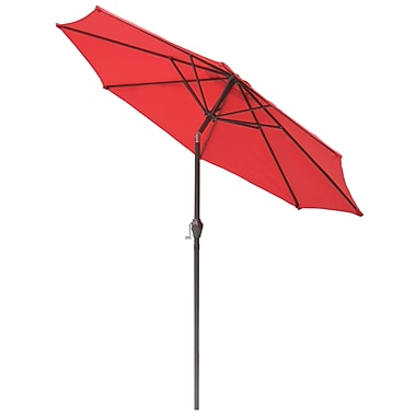 International Concepts Stee/Fabric 9' Tilt Market Umbrella, Autumn Red