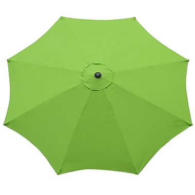International Concepts Stee/Fabric 9' Tilt Market Umbrella, Lime Green