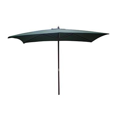International Concepts Stee/Fabric Rectangular Market Umbrella, Hunter Green