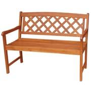 International Concepts Acacia Hardwood 2 Seater X-Back Bench, Oiled Finish