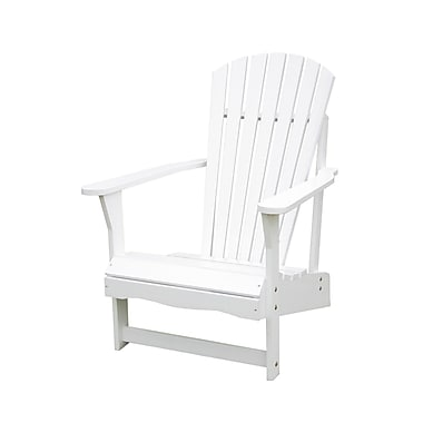 International Concepts Solid Acacia Wood Adirondack Chair, White