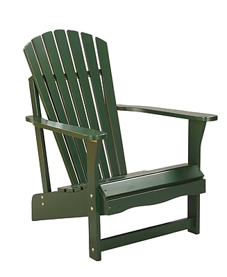 International Concepts Solid Acacia Wood Adirondack Chair, Hunter Green