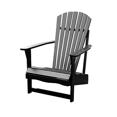 International Concepts Solid Acacia Wood Adirondack Chair, Black