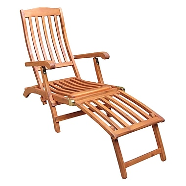 International Concepts Oiled Acacia Wood Steamer Chair