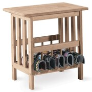 """International Concepts 23"""" x 22"""" x 15"""" Wood Mission Magazine End Table, Unfinished"""