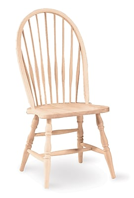 International Concepts Parawood Tall Spindleback Windsor Side Chair, Unfinished