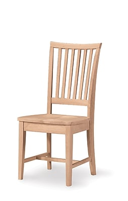 International Concepts Parawood Mission Side Chair, Unfinished