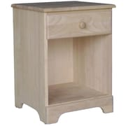 "International Concepts 25 1/2"" Solid Parawood Night Stand, Unfinished"