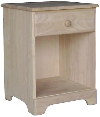 Whitewood Industries Wood Side Table, Unfinished, Each (BD-5001)