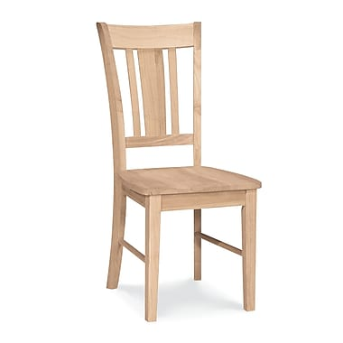 International Concepts Parawood San Remo Slatback Chair, Unfinished