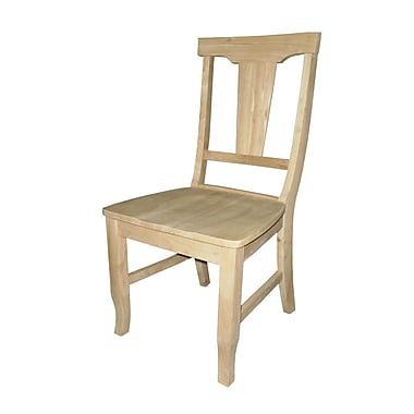 International Concepts Parawood Panelback Chair, Unfinished