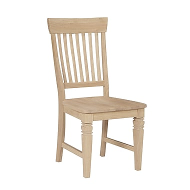 International Concepts Parawood Tall Java Chair, Unfinished